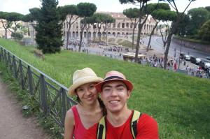 Вид на Колизей с Холма Палатин