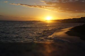 Закат над Средиземным морем