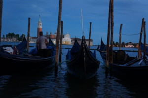 Ночной вид на San Giorgio Maggiore