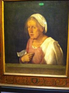 Джорджоне. Портрет пожилой женщины.