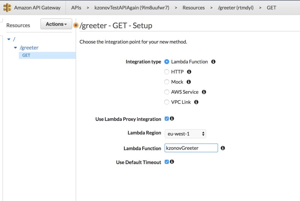 api gateway method creation